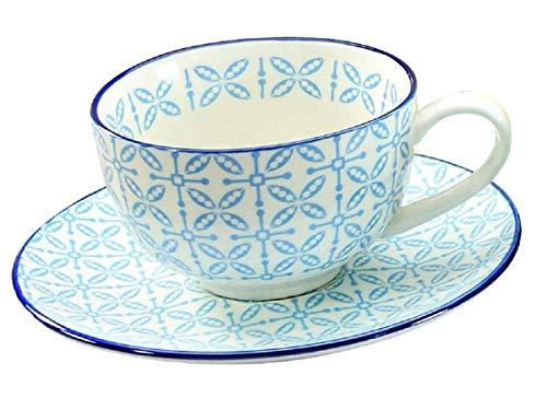 Creatable Kaffeetasse mit Untertasse Mediterran zu 17362 (Blau)