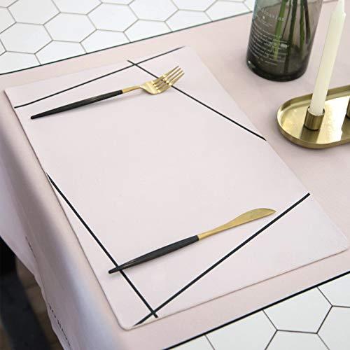 YLJXXY Juego de tapetes para Mesa de Comedor, Antideslizante Resistente al Calor de Estilo Elegante, 4 tapetes Individuales