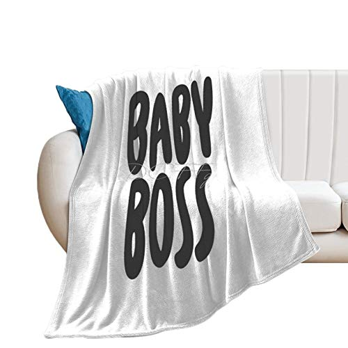 Throw Blanket for Bed Flannel Blankets Gender Neutral Baby Boss Babies Wall Art Lightweight Ultra Soft for All Season Farmhouse Decorative Blanket for Couch Sofa Travel Birthday Gift 70x80 Inch
