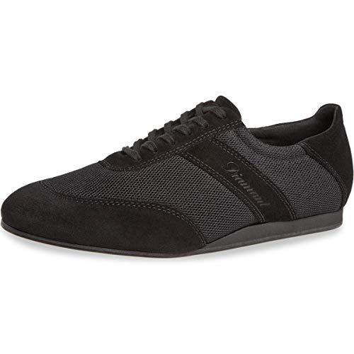 Diamant Zapatillas de baile para hombre 192-425-577-V, piel de ante y malla negra, tacón de cuña de 1,5 cm, suela VarioSpin, fabricadas en Alemania, color Negro, talla 40 EU Weit
