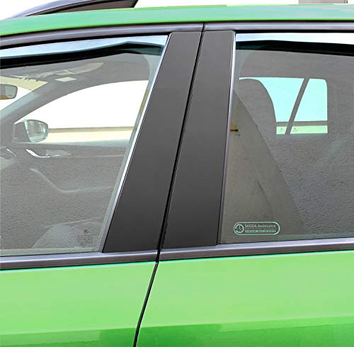 P021   Schutzfolie Türleisten - 6er Folien-Set Dekor 3M 1080 Wrap Folie   2080 Wrap Folie   Passgenaue Folie   Car Wrapping   Aufkleber   Klebefolie (3M M12 Schwarz Matt)