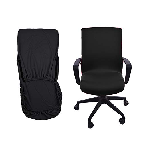 Funda para silla de oficina, funda para silla giratoria, funda para silla moderna, elástica, lavable, juego para la silla de oficina, ordenador, silla de escritorio (M)