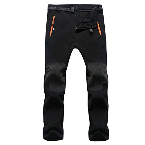 Naudamp pantalones de montaña de los hombres al aire libre ligero transpirable de secado rápido pantalones de carga de carga (black, L)