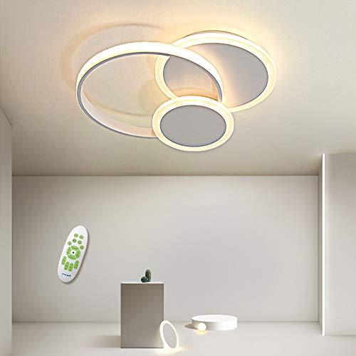 Plafoniera a LED, 39W Moderna Lampada da Soffitto in Alluminio Acrilico Rotondo, Telecomando...