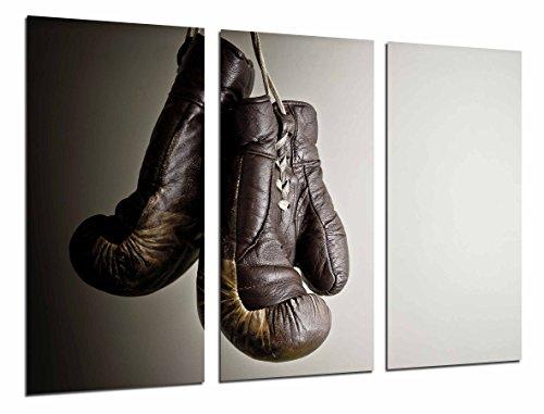 Wandbild - Boxsport, graubrauner Handschuh, Motivation, 97 x 62 cm, Holzdruck - XXL Format - Kunstdruck, ref.26788