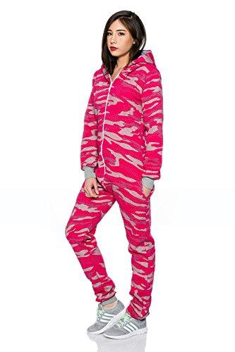 Crazy Age Jumpsuit Overall Einteiler CA 2840 in neuen trendigen Camouflage Farben (S, Pink(A)) - 3