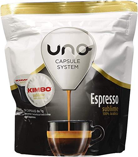 64 CAPSULE CAFFE KIMBO MISCELA ESPRESSO SUBLIME 100% ARABICA UNO SYSTEM ILLY