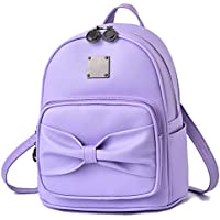 Barsine Mini Vegan Leather Purse Backpack with Cute Bowknot (6 colors)