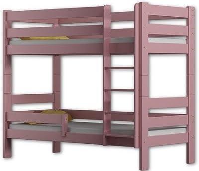 Literas de cama Sophie, 2 camas, de madera de pino, marco de 160
