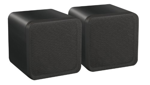 E-Audio 4-Inch Dual Cone Full Range Mini Box Speaker