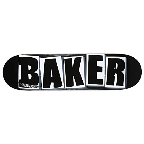 Baker Brand Logo Deck-8.0 Black/White Skateboard Deck