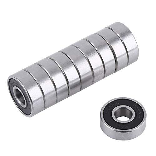 Rodamientos rígidos de bolas, 10pcs / set 608 de rodamiento de bola 2RS ABEC-5, 8X22X7 mm de ranura profunda de acero cerrado con rodamientos de bolas 608RS Z3V3 608-2RS 608rs