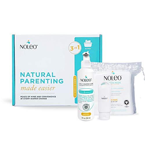 3 in 1 Certified Organic and EWG Verified Diaper Care, Baby Care Skin Cleanser, Rash Cream, Moisturizing Lotion - NOLEO (Baby Box)