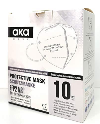 FFP2 Atemschutzmasken 10 Stück einzeln verpackt CE-zertifiziert