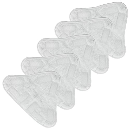 Spares2go Microfibre Washable Cleaning Pads for Abode ASM2001 Steam Cleaner Mop (Pack of 5)