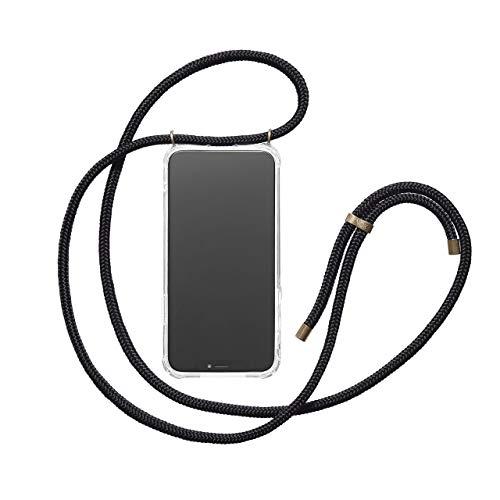 KNOK Case Handykette Kompatibel mitiPhone XS Max- Handy Hülle mit Kordel zum Umhängen - Phone Necklace in Schwarz