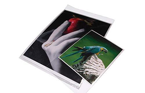 Buste in Polipropilene 40 micron a sacco trasparenti con patella per la conservazione, confezioni da 50 pezzi (Formato 22x30,6cm/A4)