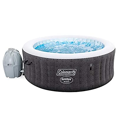 """C.O Coleman Saluspa 71"""" x 26"""" Havana AirJet Outdoor Inflatable 4 Person Hot Tub with Remote Control"""