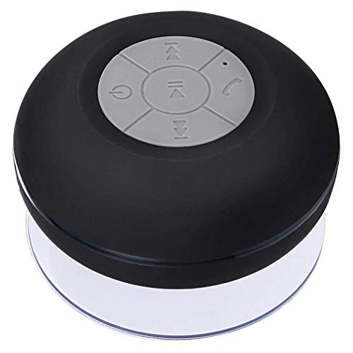 GANE Black Bluetooth wireless waterproof shower speaker