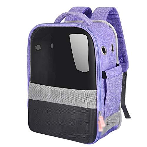 Pet bag out transparante ademende borsttas draagbare handige slip kat rugzak rugzak (Color : Purple)