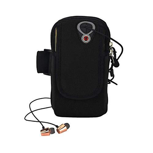 Sport Armband Armtasche, ieGeek Rennen Sportarmband Outdoor Armband Handytasche Multifunktionale Doppel Armtasche Armbinde für Handy Bis zu 5,0