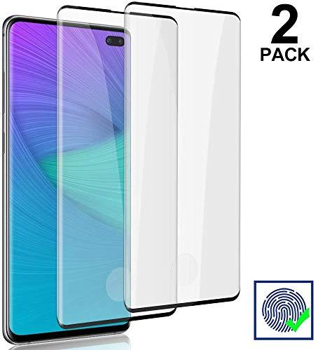 KOFOHO [2 Pezzi] Vetro Temperato per Samsung Galaxy S10 Plus Pellicola Protettiva Durezza 9H Vetro Protezione Facile da Installare Proteggi Schermo per Samsung Galaxy S10 Plus