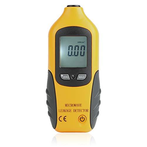 Akozon Mikrowellen Detektor,HT-M2 Digital LCD EMF Messgeräte Anzeigen Mikrowellen Radiation Leckage Detektor,Elektromagnetische Strahlung Detektor Strahlungs Meter Prüfvorrichtung 0-9,99 MW/cm2