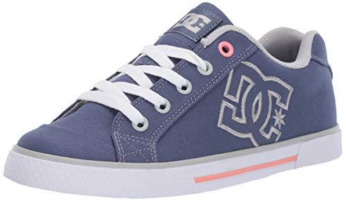 DC Women's Chelsea Low Top Casual Skate Shoe, Blue/Grey, 9.5 M US