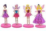 Figuras miniaturas de Hadas ZSWQ-4 Piezas de Hadas de Flores Estatuas en...