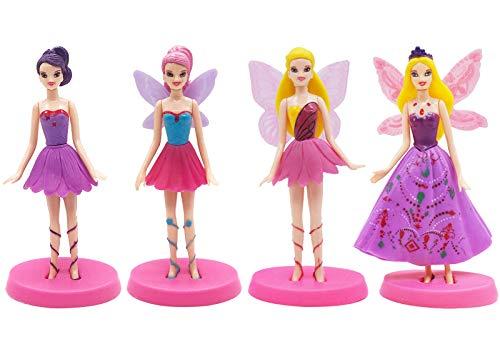 Figuras miniaturas de Hadas ZSWQ-4 Piezas de Hadas de Flores Estatuas en Miniatura,estatuas de paisajes en Miniatura de Bricolaje, utilizadas para la decoración de Pasteles de cumpleaños Famil