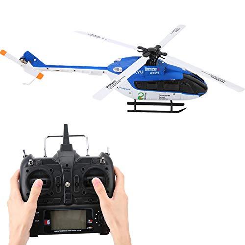 FastUU Helicóptero RC, 6 Canales 1106 11000KV Motor sin escobillas Estabilidad de Vuelo LCD Helicóptero de Control Remoto eléctrico, Carga USB 80M Control de Altura Drone para niños Utdoor Interior