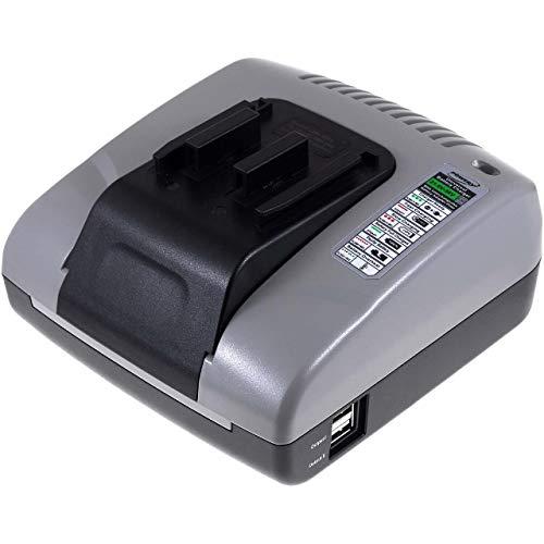 akku-net Akku-Ladegerät mit USB für Hitachi Akku-Bohrhammer DH 24DV, 20V-36V