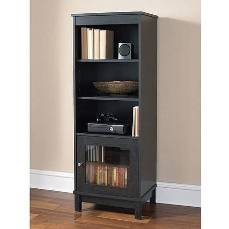 Ameriwood Black Audio Pier Bookshelf Bookcase