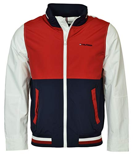 Tommy Hilfiger Men's Washington Regatta Colorblocked Yacht Jacket - S - Navy/Red/Wht