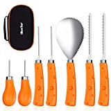 IBASETOY Thanksgiving Day Pumpkin Carving Set,Christmas Carving Tools 7 Pieces