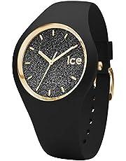 Ice-Watch - ICE glitter Black - Montre noire pour femme avec bracelet en silicone
