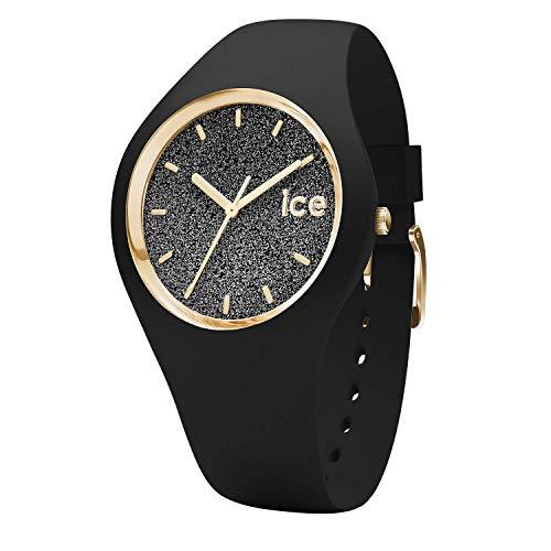 Ice-Watch - ICE glitter Black - Schwarze Damenuhr mit Silikonarmband - 001356 (Medium)