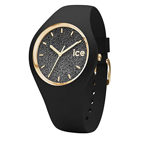 Ice-Watch - Ice Glitter Schwarz - Damen wristwatch mit Silikonarmband - 001356 (Medium)