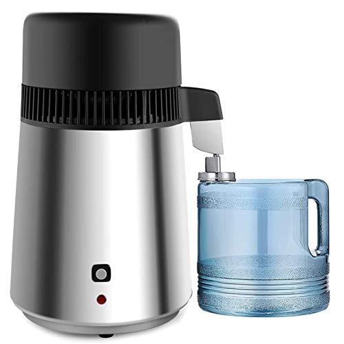4L Countertop Home Wasserdestilliermaschine Destillierter Reinwasserfilter Aus Edelstahl Mit BPA-Freiem Kunststoffbehälter Mini-Wasserfiltersystem 750W,220v