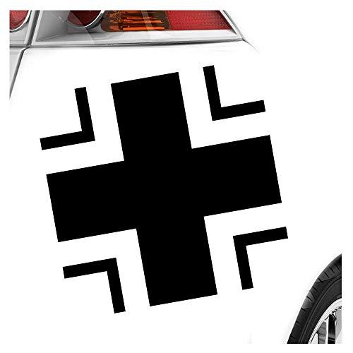 Kiwistar Bundeswehr Kreuz - in 3 Größen erhältlich Heckscheibenaufkleber Carsticker Decal