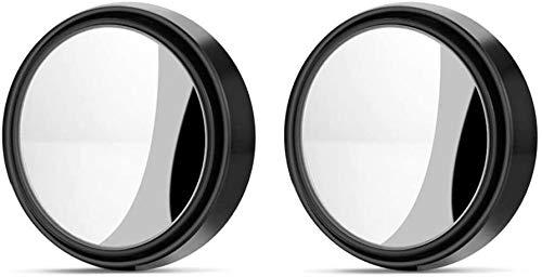 Espejo de Punto Ciego,HD Punto Ciego Espejo 2 Pack Espejo Convexo 360 ° Gran Angular Ajustable Redonda HD Espejo Retrovisor Universal Impermeable Coche Retrovisores de Ángulo para Todos los Autos