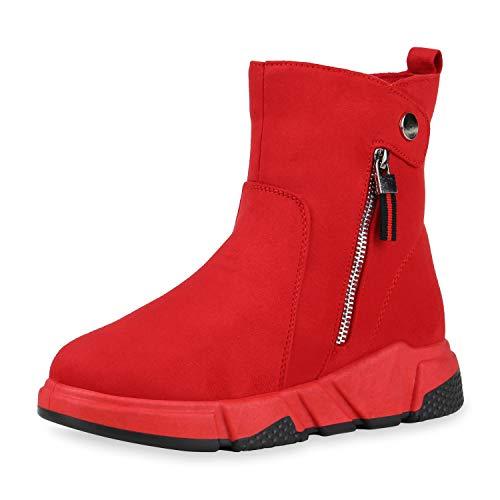 SCARPE VITA Dames Sneakerboots Makkelijk Gevoerde Sneaker Laarzen Wedges Rits Pruik Schoenen Suede-Look Laarzen Zool