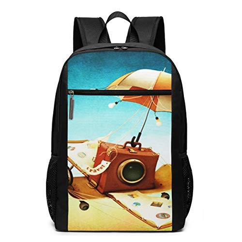 Schulrucksack Travel Flying Skateboard Buch, Schultaschen Teenager Rucksack Schultasche Schulrucksäcke Backpack für Damen Herren Junge Mädchen 15,6 Zoll Notebook
