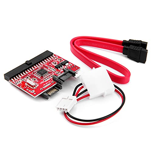 Joliy Adattatore di conversione bidirezionale da IDE a SATA/SATA a IDE Convertitore Disco Rigido Porta 40 Pin IDE per Computer Desktop