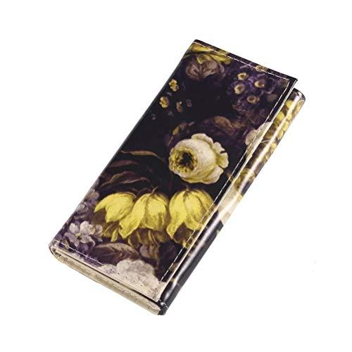 Gloss Victoriana Blume Folding Kupplungs-Geldbeutel: Gelb