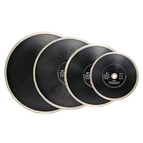 CJIANHUA-HERRAMIENTAS 2pcs 200/250 mm prensado en caliente-Continuar llanta diamante de corte hojas de sierra de 25.4mm orificio for la baldosa de cerámica 8/10 pulg corte Disc Todo nuevo nunca usado