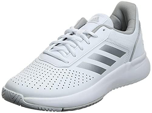 adidas Damskie buty do fitnessu Courtsmash, biały - Cloud White Matte Silver Grey - 39 1/3 EU