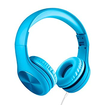 LilGadgets Connect+ PRO Kids Premium Volume Limited Wired Headphones with SharePort and Inline Microphone for Children  Blue