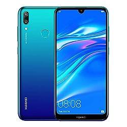 "Image of Huawei Y7 2019 (32GB, 3GB) 6.26"" Dewdrop Display, 4000 mAh Battery, 4G LTE GSM Dual SIM Factory Unlocked Smartphone (Dub-LX3) - International Version, No Warranty (Blue): Bestviewsreviews"