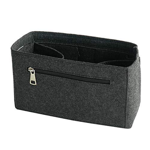 Classic Slash Taschenorganizer Filz Medium für Neverfull PM Kanken Classic Le Pliage M Medium und Taschen ab 27cm Innenmaß I Dunkelgrau